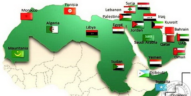 Arab League Map
